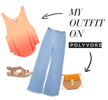 For party or beach, let the pink crop tank and wide leg jeans to bring up your mood! (@Fashionmimo)